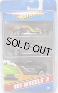 2012 HOT WHEELS 3 【I CANDY/PORSCHE CARRERA GT/HUMMER H3T CONCEPT】