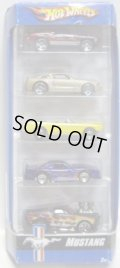 2007 5PACK 【MUSTANG】 Mustang Mach I / 2005 Ford Mustang GT / '65 Mustang Convertible / Mustang Cobra / 1968 Mustang ('Tooned)