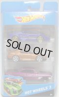 2014 HOT WHEELS 3 【LAMBORGHINI COUNTACH(?)/HONDA S2000(EX)/'61 IMPALA(?)】
