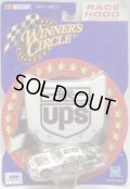 "2002 ACTION - NASCAR WINNER'S CIRCLE 【""#88 UPS"" FORD TAURUS】 WHITE-BROWN (with 1/24 RACE HOOD)"