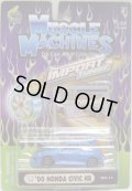 2002 MUSCLE MACHINES - IMPORT TUNER【'00 HONDA CIVIC HB】 BLUE/RR