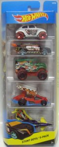 2015 5PACK 【STUNT DEVIL】 Baja Bug / Loop Coupe / Monster Dairy Delivery / Dirty Outlaw / Poison Arrow