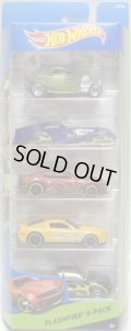 2015 5PACK 【FLASH FIRE】 '32 Ford / Screamliner / '12 Camaro ZL1 / Shelby GT500 Super Snake / Steel Flame