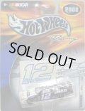 "2002 HOT WHEELS RACING ""STICKER"" 【#12 TEAM ALLTEL FORD TAURUS】 WHITE-BLACK/RR"