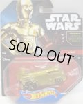 2016 HW STAR WARS 【C-3PO (後輪ホイール・バリエーション】 GOLD/GOLD O5 (2015 BLACK CARD)