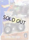2004 MONSTER JAM 【SUPER TRUCKER】 YELLOW-BLUE