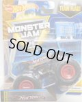 2017 MONSTER JAM includes TEAM FLAG! 【HOT WHEELS RACING】 BLUE (FLASH BACK)(2017 NEW LOOK!)