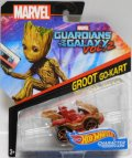 "2017 HW MARVEL 【""GUARDIANS OF THE GALAXY 2"" GROOT GO-KART】 WOOD-RED/O5 (2017 CARD)"