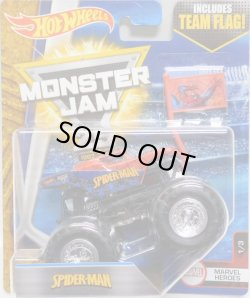 画像1: 2017 MONSTER JAM includes TEAM FLAG! 【SPIDER-MAN】 RED (MARVEL HEROES)