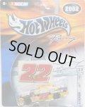 "2002 HOT WHEELS RACING ""STICKER"" 【#22 TEAM CAT DODGE INTREPID】 YELLOW-BLACK/RR"
