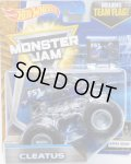 2017 MONSTER JAM includes TEAM FLAG! 【CLEATUS】 CLAR BLACK (X-RAY BODY)