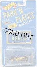 PARK'N PLATES 【THUNDERSTREAK KRACO (2199)】BLUE-YELLOW/BW  (BLUE PLATE)