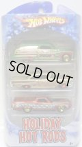 2010 HOLIDAY HOT RODS 3PACK 【PURPLE PASSION WOODIE/'58 EDSEL/'72 FORD RANCHERO】 TARGET EXCLUSIVE