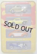 SINCE'68 HOT RODS 4CAR TIN PACK 【3-WINDOW '34, '57 CHEVY, '40 FORD COUPE, T-BUCKET】