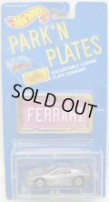 PARK'N PLATES 【FERRARI TESTAROSSA (2048)】 SILVER/UH (RED INTERIOR) (PINK PLATE)