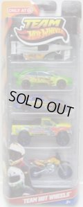 2011 TARGET EXCLUSIVE TEAM HOT WHEELS 5PACK 【GP-2009 / Ford Focus / 24/Seven / Ford F-150 / Wastelander】