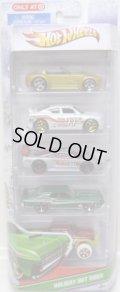 2011 TARGET EXCLUSIVE 【HOLIDAY HOT RODS 5PACK 】Ford Shelby Cobra Concept/ Dodge Charger SRT8/ Saleen S7/ '69 Mercury Cougar Eliminator/ Mega-Duty