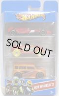 2013 HOT WHEELS 3 【F1 RACER/VW BEETLE/SCION xB(EX)】