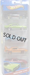 2013 5PACK 【MUSCLE MANIA】 Blown Camaro / '69 Pontiac GTO / 2010 Ford Mustang GT / '70 Plymouth Superbird / IROC Firebird