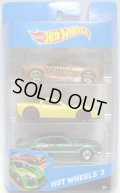 2014 HOT WHEELS 3 【SCORCHER(?)/'11 CORVETTE GRAND SPORT(?)/'71 MAVERICK GRABBER(?)】