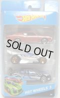 2014 HOT WHEELS 3 【'69 MERCURY CYCLONE(EX)/DRRIFT KING(?)/FORD FALCON RACE CAR(EX)】