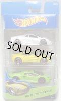 2015 HOT WHEELS 3PACK 【HW EXOTICS】 Lamborghini Reventon / Aston Martin One-77 / Lamborghini Aventador