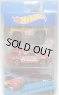 2015 HOT WHEELS 3PACK 【RESCUE RACERS】 Custom Ford Bronco / '07 Chevy Tahoe / HW Rapid Responde