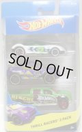 2015 HOT WHEELS 3PACK 【THRILL RACERS】 Golden Arrow / Toyota RSC / Ford F-150