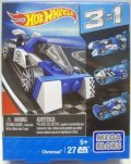 MEGA BLOKS HOT WHEELS 3 in 1 【CHROMAD】 BLUE/10SP