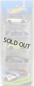 2015 5PACK 【EXOTICS】 Pagani Huayra / Lamborghini Aventador J / Porsche 911 GT2 / Lotus Esprit / Alfa Romeo 8C Competizione