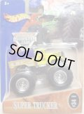 2004 MONSTER JAM 【SUPER TRUCKER】 YELLOW-BLUE