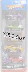 2010 5PACK 【TOON'D MUSCLE】 '69 Camaro Z28 / '63 Corvette / '69 Pontiac GTO Judge / '68 Mustang / Dodge Charger Daytona