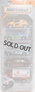 2016 MATCHBOX 5PACK  【CITY】Mazda 2 / Ford Crown Victoria Taxi / GMC School Bus / Limousine / Billboard Truck