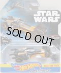 2017 HW STAR WARS CARSHIPS 【POE'S X-WING FIGHTER】 BLACK-LT.ORANGE/O5