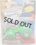 2016 MONSTER JAM includes STUNT RAMP! 【GRAVE DIGGER】 BLACK (COLOR TREADS)