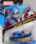 2017 HW MARVEL 【CAPTAIN AMERICA】 BLUE/RL (2017 CARD)