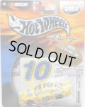 "2002 HOT WHEELS RACING ""STICKER"" 【#10 TEAM NESQUIK FORD TAURUS】 YELLOW/RR"