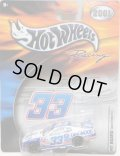 "2001 HOT WHEELS RACING ""PIT BOARD""【#33 TEAM 33 OAKWOOD CHEVY MONTE CARLO】 WHITE-BLUE/RR"