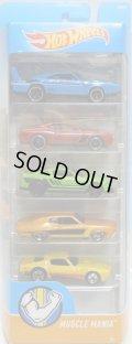 2017 5PACK 【MUSCLE MANIA】'69 Dodge Charger Daytona / '08 Dodge Challenger SRT8 / '12 Mustang Boss 302 Laguna Seca / '70 Ford Torino / '73 Pontiac Firebird