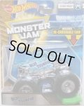 2018 MONSTER JAM includes RE-CRUSHABLE CAR! 【BLUE THUNDER】 CLEAR BLUE (X-RAY BODY)