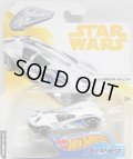 "2018 HW STAR WARS CARSHIPS 【""Solo : A Star Wars Story"" MILLENNIUM FALCON】 WHITE-BLUE/SK5 (2018 WHITE-YELLOW CARD)"