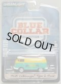 2018 GREENLIGHT BLUE COLLAR COLLECTION S3 【1968 VOLKSWAGEN TYPE 2 PANEL】 YELLOW-MINT/RR