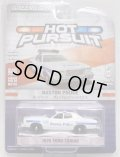 2018 GREENLIGHT HOT PURSUIT S26 【1976 FORD TORINO】 WHITE/RR (BOSTON POLICE)