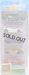 2018 5PACK 【HW EXOTICS】Jaguar XJ220 / McLaren F1 GTR / Aston Martin DBS / Lamborghini Sesto Elemento / Renault Sport R.S. 01