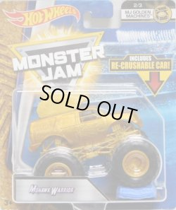 画像1: 2018 MONSTER JAM includes RE-CRUSHABLE CAR! 【MOHAWK WARRIOR】 GOLD (MJ GOLDEN MACHINES)(予約不可)