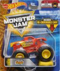 2018 MONSTER JAM includes RE-CRUSHABLE CAR! 【CAROLINA CRUSHER】 RED (EPIC ADDITIONS)(2018 NEW LOOK!)