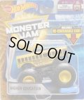 2018 MONSTER JAM includes RE-CRUSHABLE CAR! 【HIGHER EDUCATION】 YELLOW (EPIC ADDITIONS)
