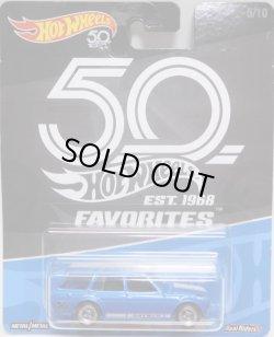 画像1: 2018 HW 50th FAVORITES 【'71 DATSUN BLUEBIRD 510 WAGON】 BLUE/RR (予約不可)