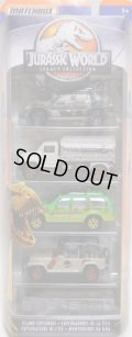"2018 MATCHBOX 5PACK 【""JURASSIC WORLD LEGACY COLLECTION"" 5PACK】'97 Mercedes-Benz ML320/MBX Tanker/'93 Ford Explorer Jurassic Park/'93 Jeep Wrangler (no top)/Fleetwood Southwind RV"