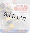 2018 HW STAR WARS STARSHIP 【ANAKIN SKYWALKER'S JEDI STARFIGHTER】 GRAY-YELLOW(2018 WHITE CARD)